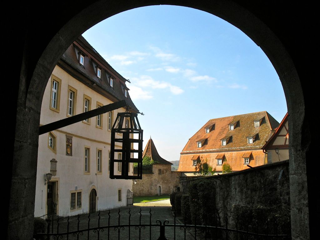 view from Rothenburg's Medieval Crime Museum