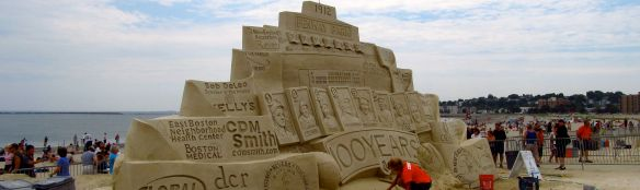 Sand sculpture of Fenway Park