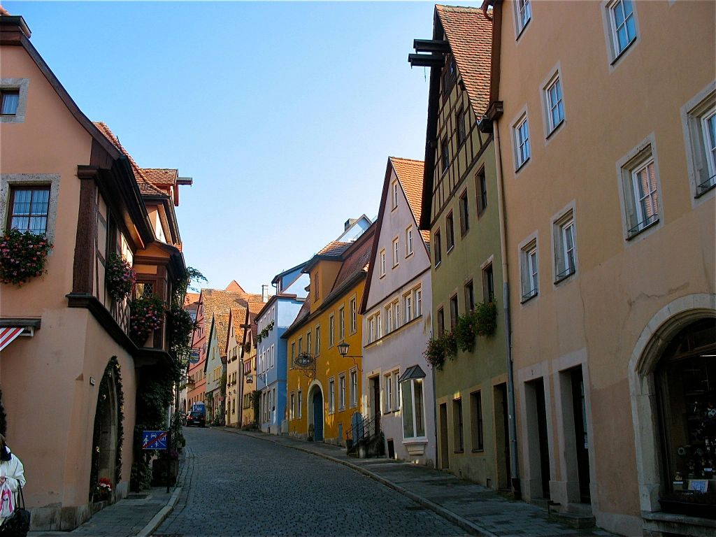 A street in Rothenburg, Germany