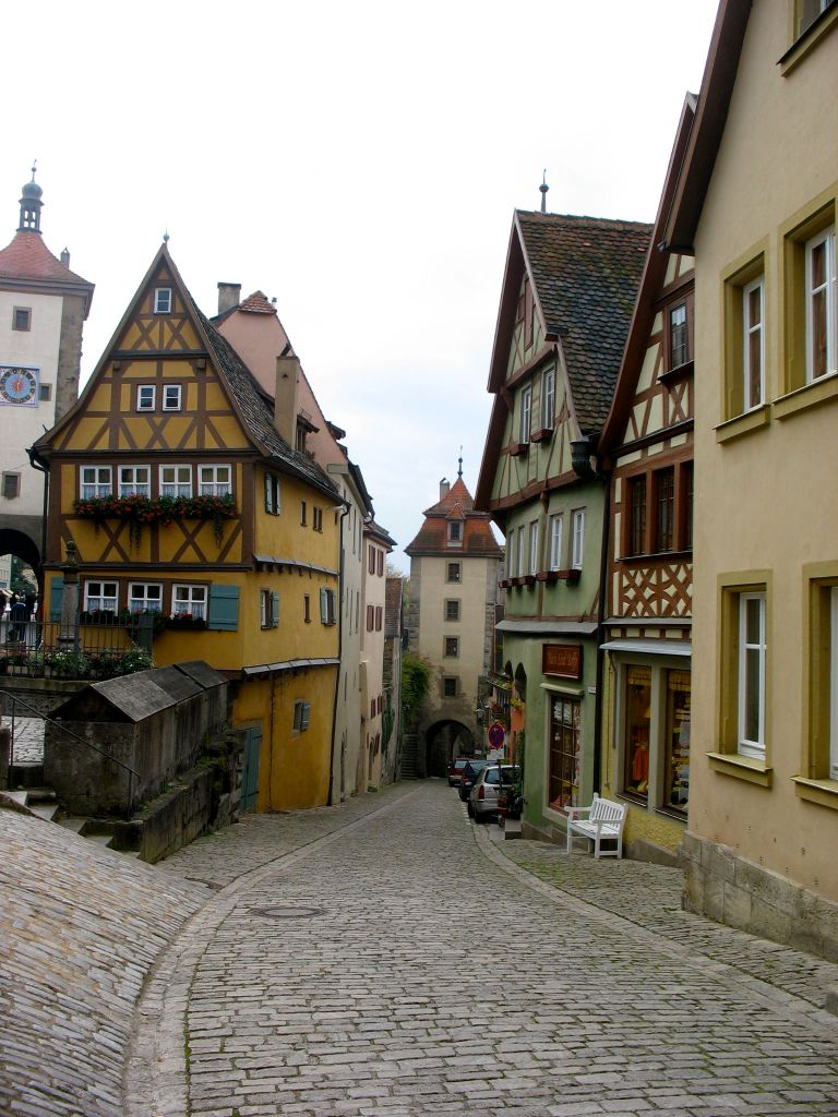 Timber-frame houses in Rothenburg, Germany