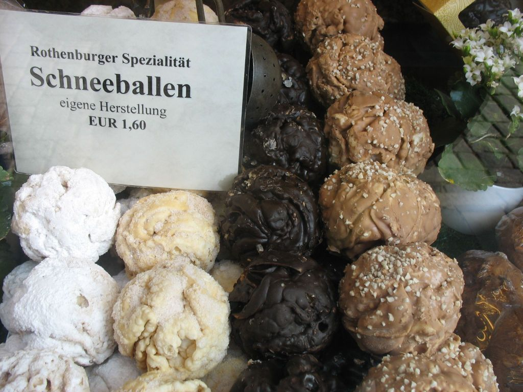 schneeballen pastry in Rothenburg, Germany