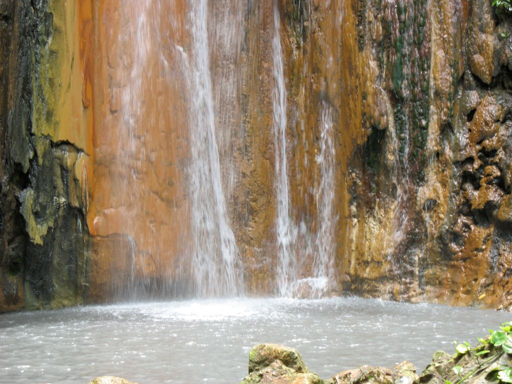 Diamond Falls waterfall in St. Lucia