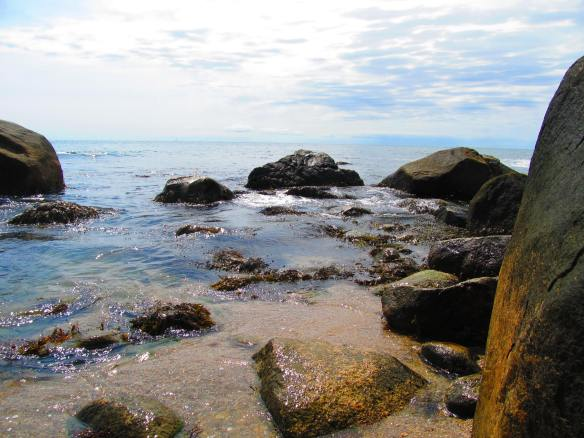 rocky beach in Westerly, Rhode Island