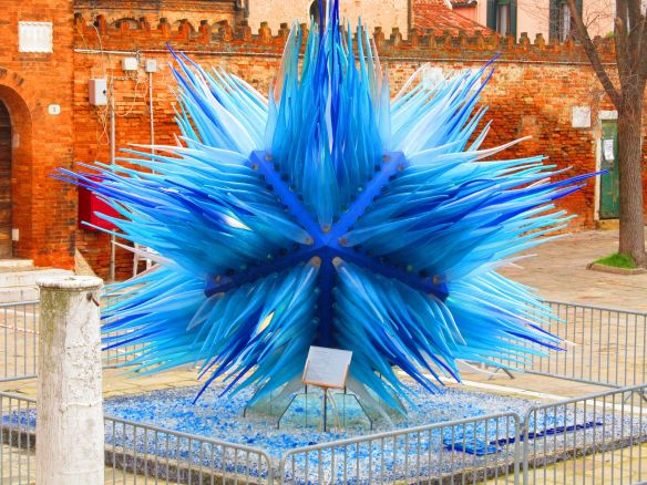 A Dale Chihuly art sculpture in Murano