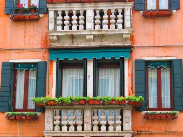 Windows in a Murano building