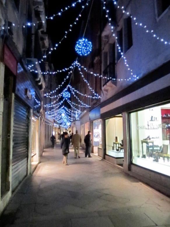 venice shops in winter